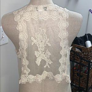 Crochet over piece